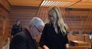 La criminologa Roberta Bruzzone oggi in Corte d'assise a Udine per il processo a Giosuè Rutolo per il duplice omicidio di Pordenone (Elena Viotto)