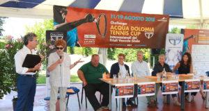 ACQUA DOLOMIA TENNIS CUP; CONFERENZA STAMPA