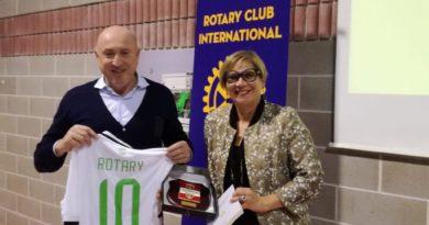 Rotary Pn, serata al De Marchi con i colori del Pordenone calcio
