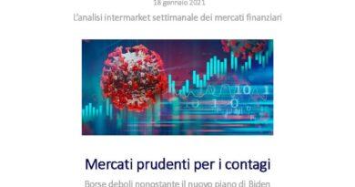 Mercato Prudente per i contagi : Borse deboli nonostante il piano di Biden